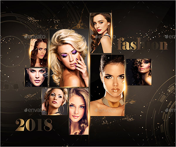 photo collage fashion flyer template