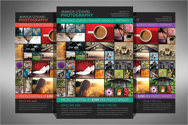 photo collage flyer creative template