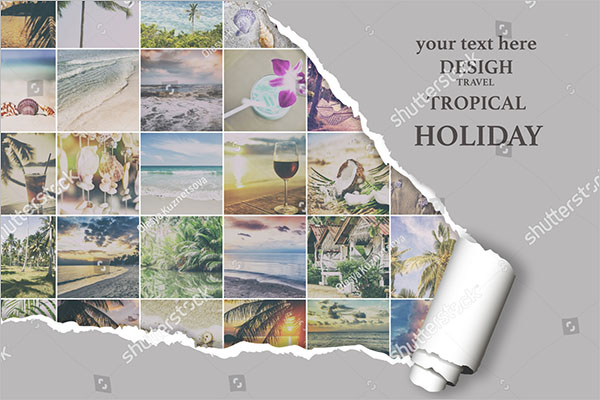 photo collage flyer customizable design