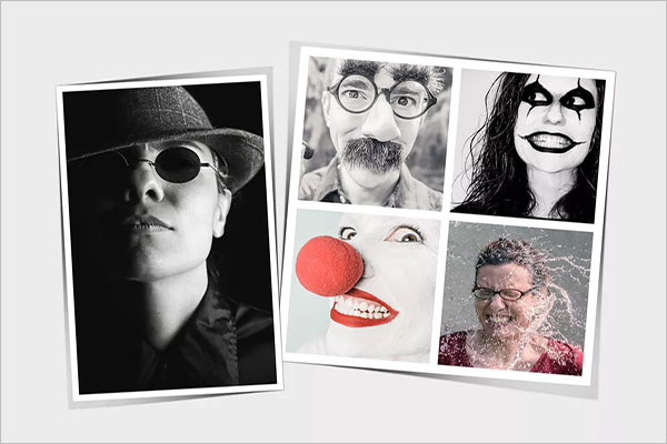 photo collage flyer template psd