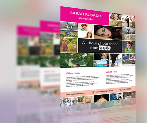 photo collage premium flyer design