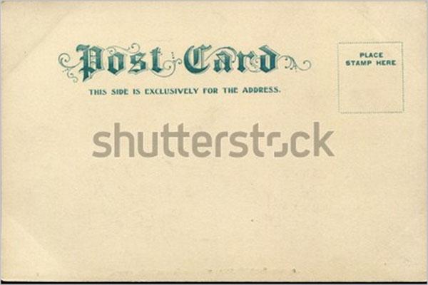 premium blank postcard template