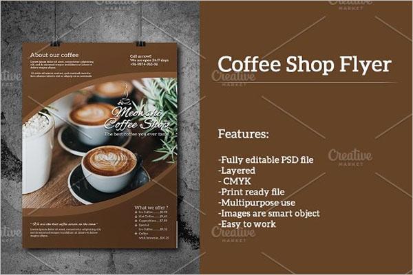 printable Coffee Shop Flyer Design