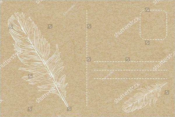 retro blank postcard design