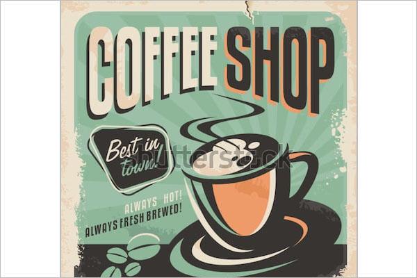 retro coffee shop flyer sample