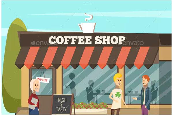 street coffee shop flyer design