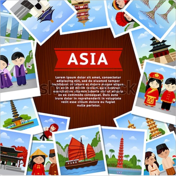 travel photo collage flyer template