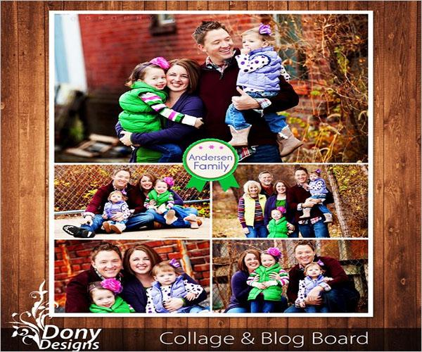 unique photo collage flyer design