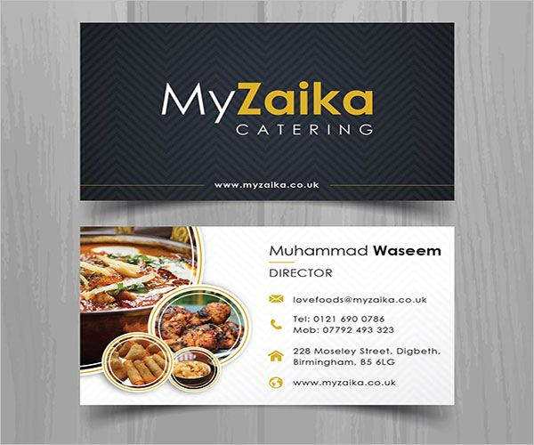 Advanced Catering Services Business Card
