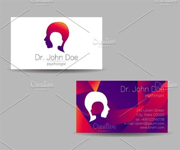 Advanced Clinic Business Card Design