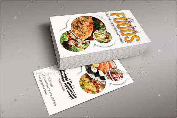 Beautiful Catering Services Business Card