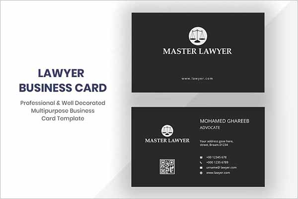 Best Lawyer Business Card Design
