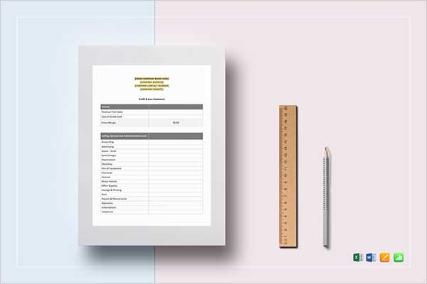 Best Monthly Income Statement Template