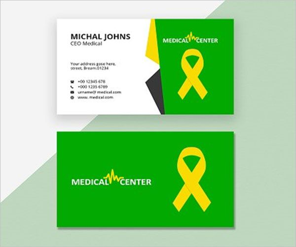 Best Simple Clinic Business Card Template