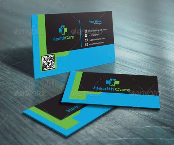 Blue Medical Clinic Business Card Design