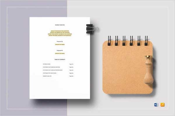 Business Budget Income Statement Template