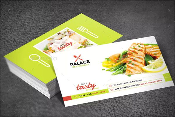 Catering Services Business Card Example