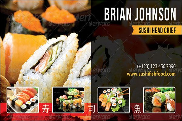 Catering Services Business Card PSD