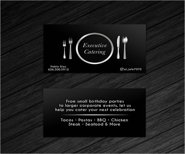 Catering Services Retro Business Card