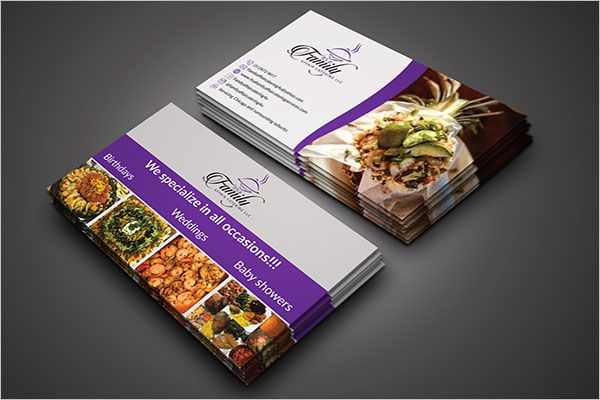 Commercial Catering Services Business Card