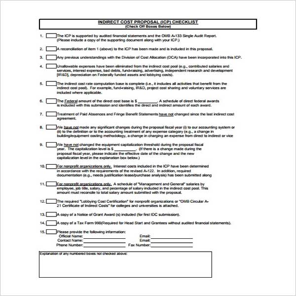 Company Cost Proposal Template