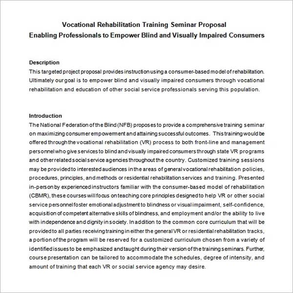 Corporate Training Proposal Template