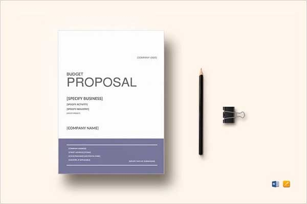 Cost Budget Proposal Template