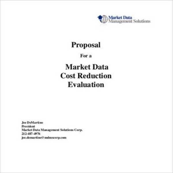 Cost Estimation Proposal Template