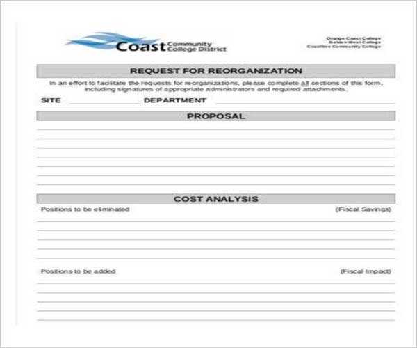 Cost Proposal Template Examples