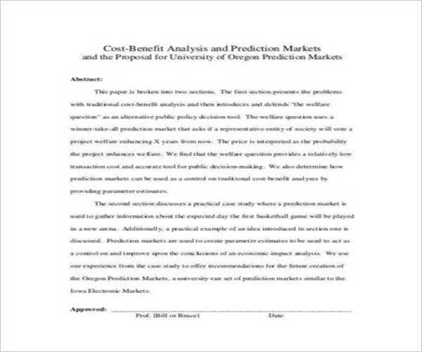 Cost Proposal Template Word