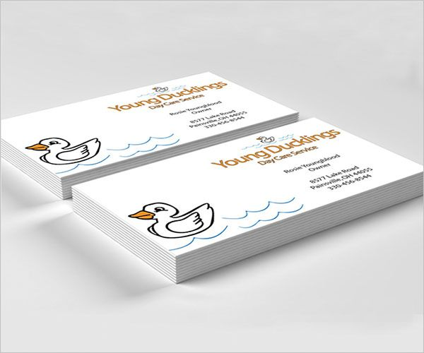 Creative Day Care Business Card Design