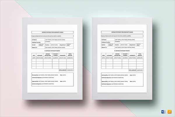 Creative Monthly Income Statement Template