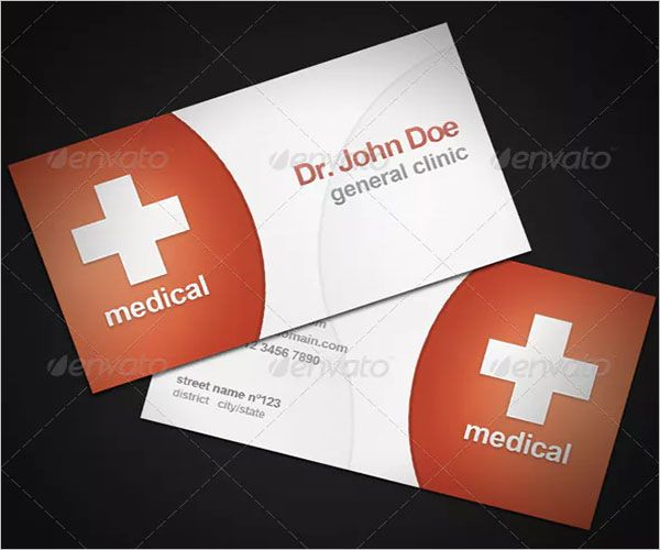 Cure Clinic Business Card Design