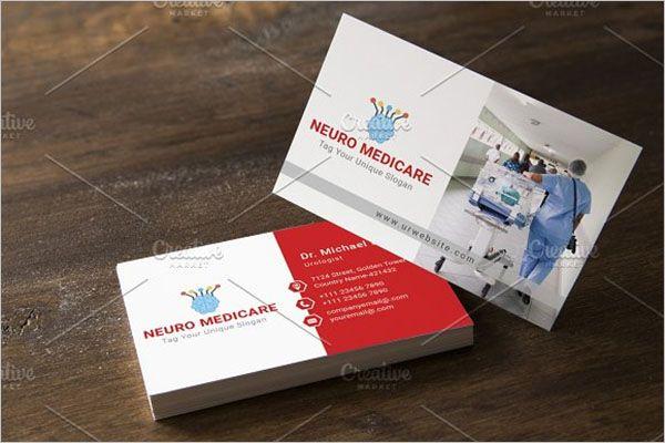 Customizable Clinic Business Card Design