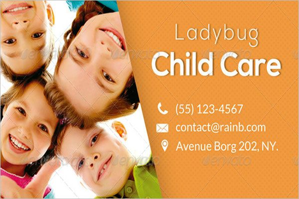 Customize Day Care Business Card Design