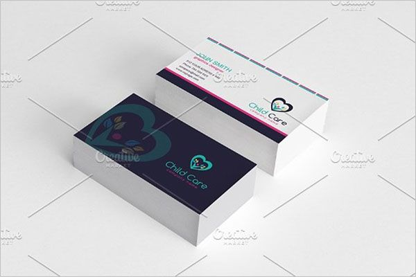 Day Care Graphic Business Card Design