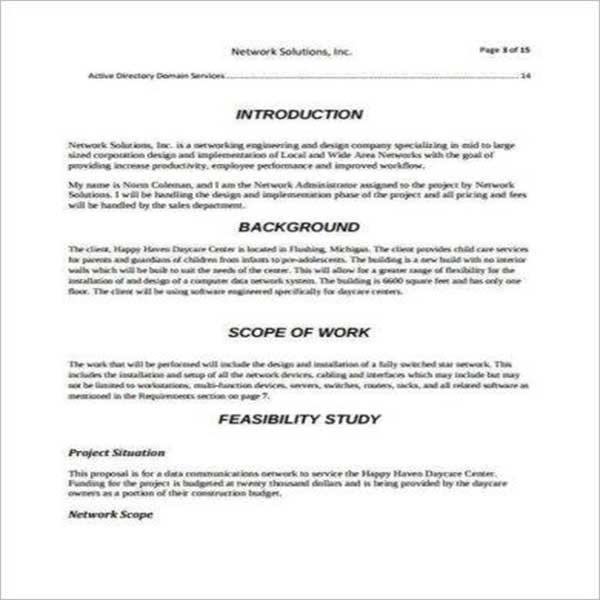 Design Proposal Outline Template