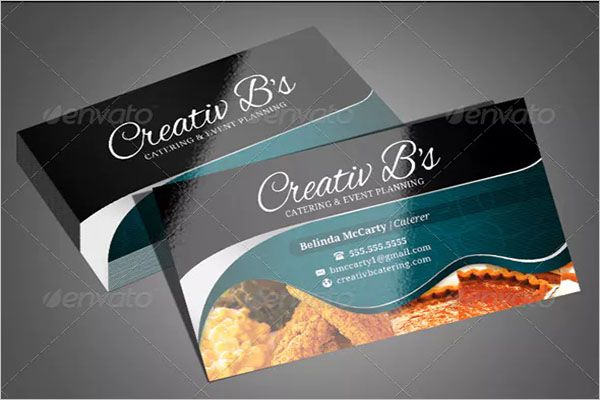 Double Side Catering Services Business Card