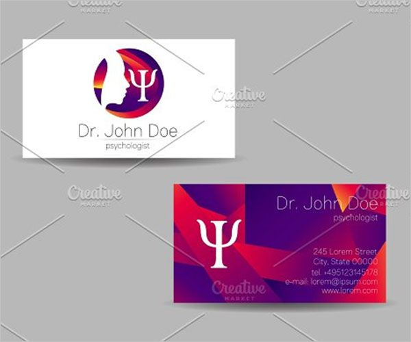 Double Side Clinic Business Card Design