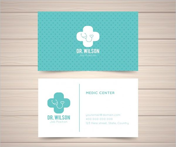 Editable Clinic Business Card Design