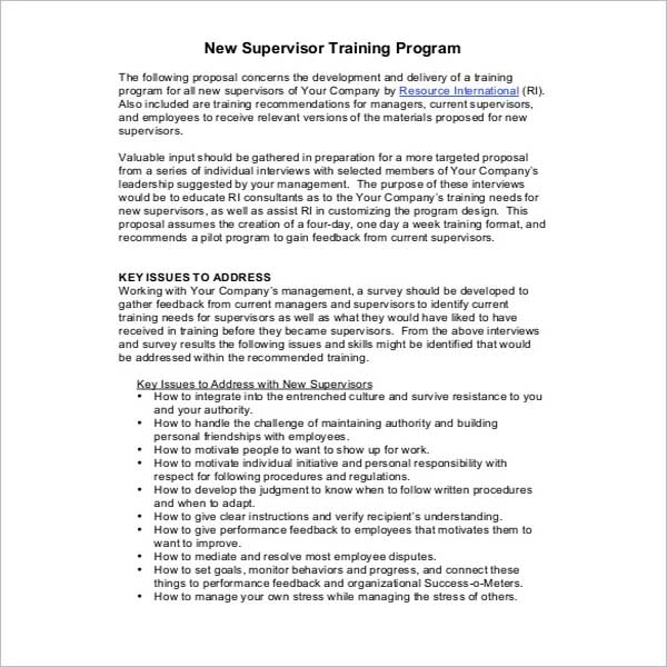 Education Training Proposal Template