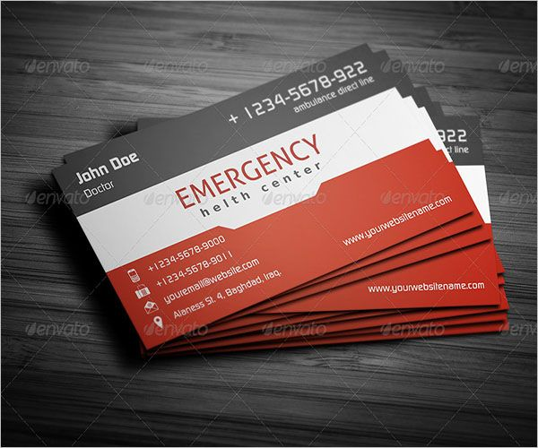 Emergency Clinic Business Card Design
