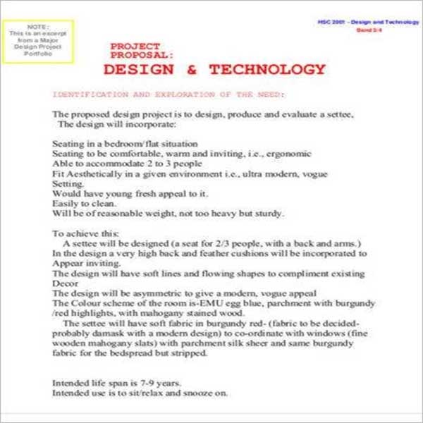 Engineering Design Proposal Template