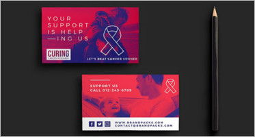 Excellent Charity Business Card Templates