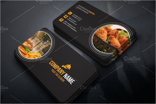 Famous Catering Services Business Card Design