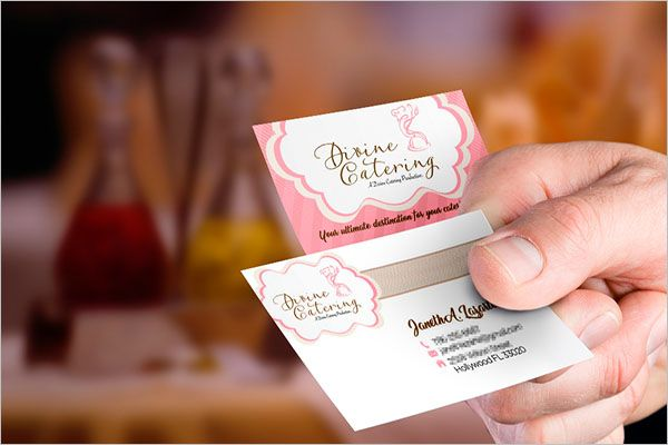 Famous Catering Services Business Card