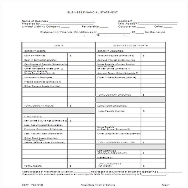 Free Business Income Statement Template