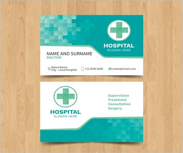Free Clinic Business Card Design