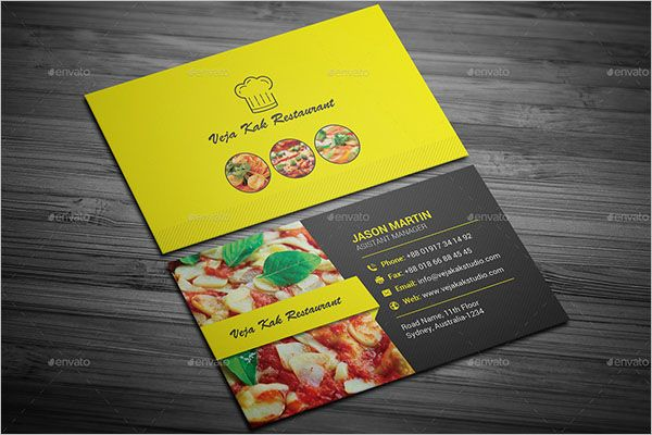 Fresh Catering Services Business Card