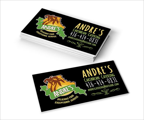 Friendly Catering Services Business Card
